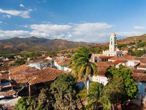 Aerial view of Trinidad Cuba group tour