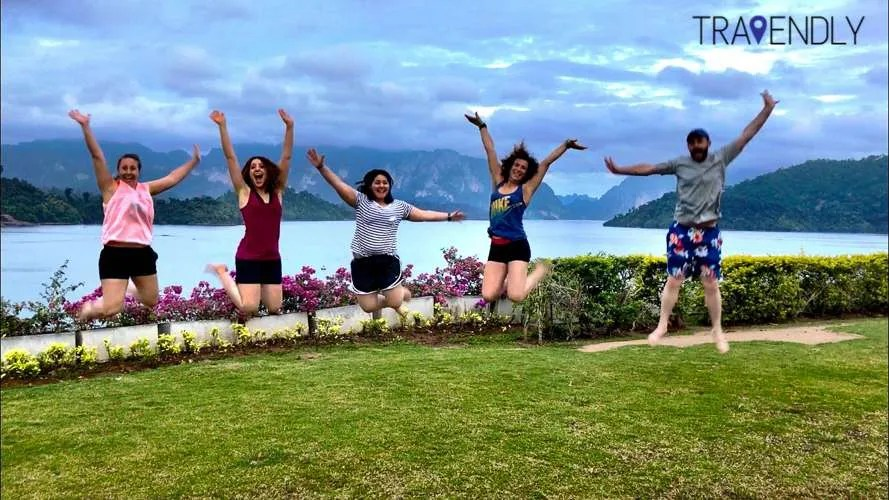 Jumping for joy in Thailand