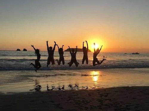 Belize group travel jump shot