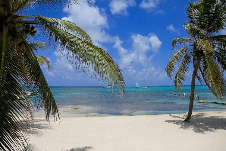 White sand on San Pedro Island Belize