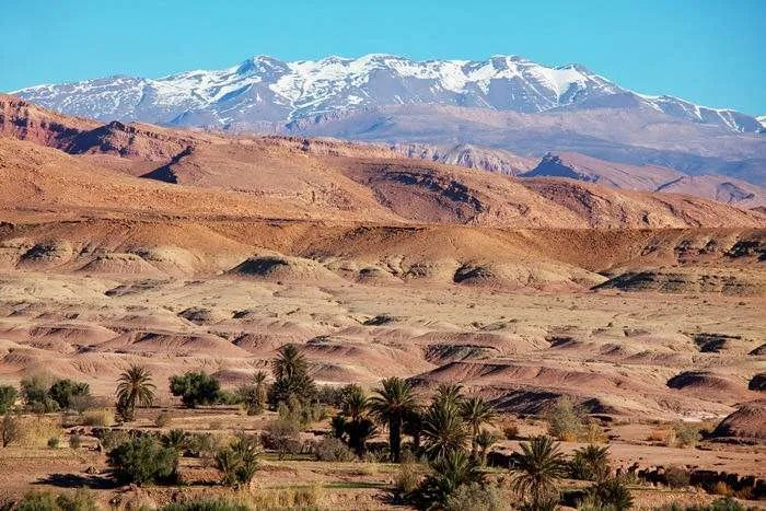 Atlas Mountain landscape in Morocco