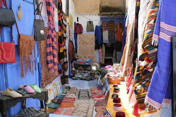A Souk in Chefchaouen Morocco