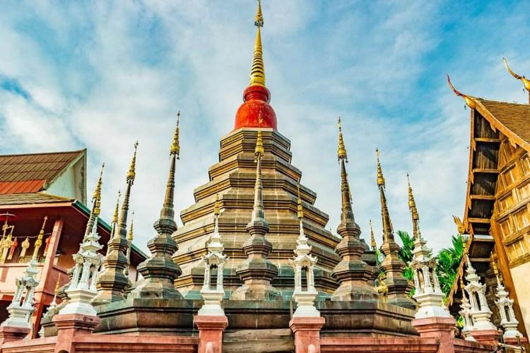 Beautiful Wat Phan Tao in Chiang Mai Thailand
