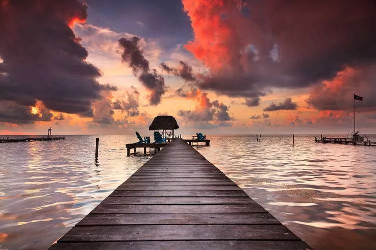 Dock on Caye Caulker