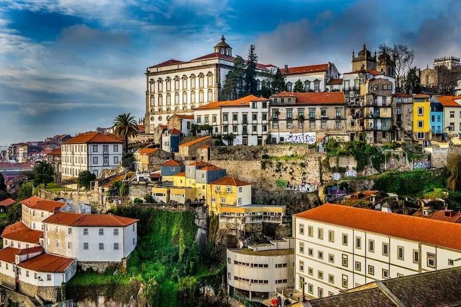 The beautiful buildings of Porto Portugal