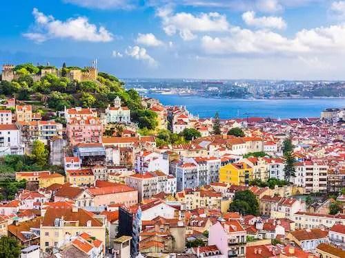 Lisbon Portugal colorful city