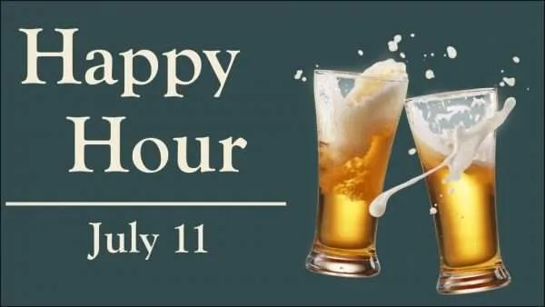 young professional happy hour July 11 2019