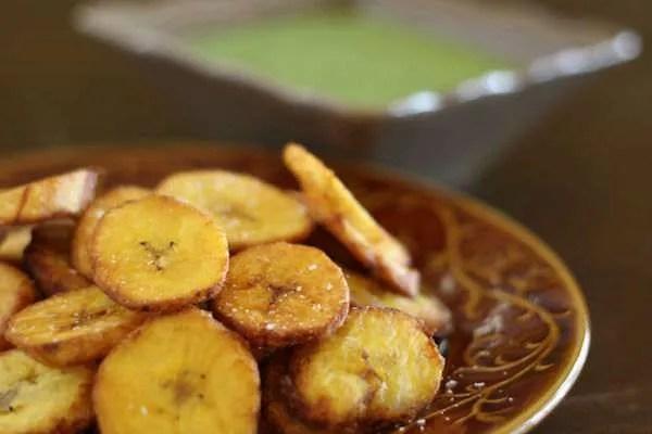 Fried Plantains Cuban dish