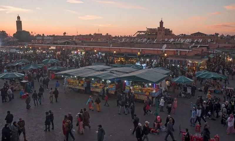 Marrakech souk aerial view