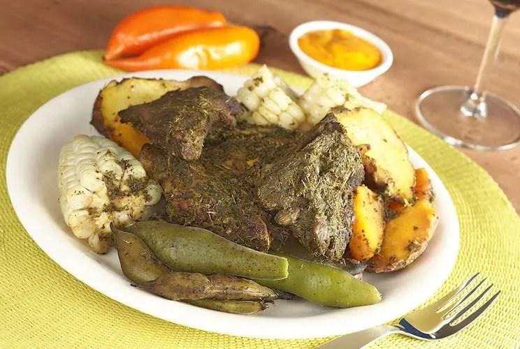 Pachamanca traditional Peruvian dish