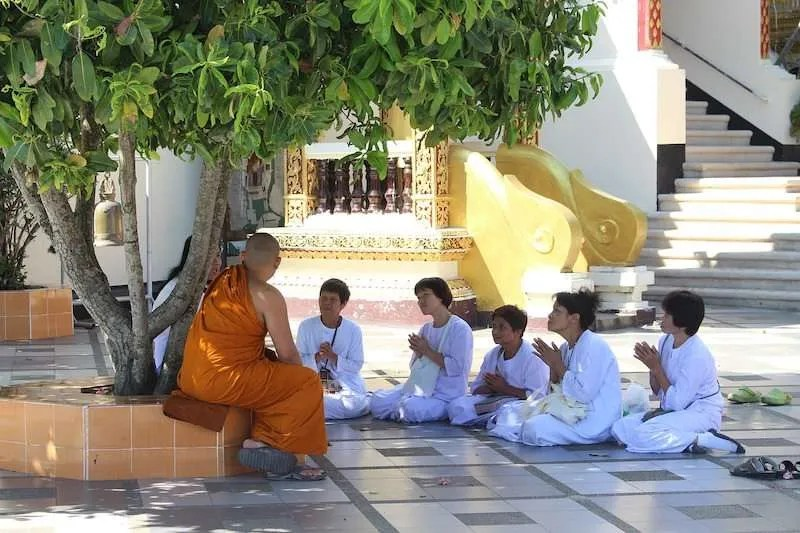 monk chat Chiang Mai Thailand