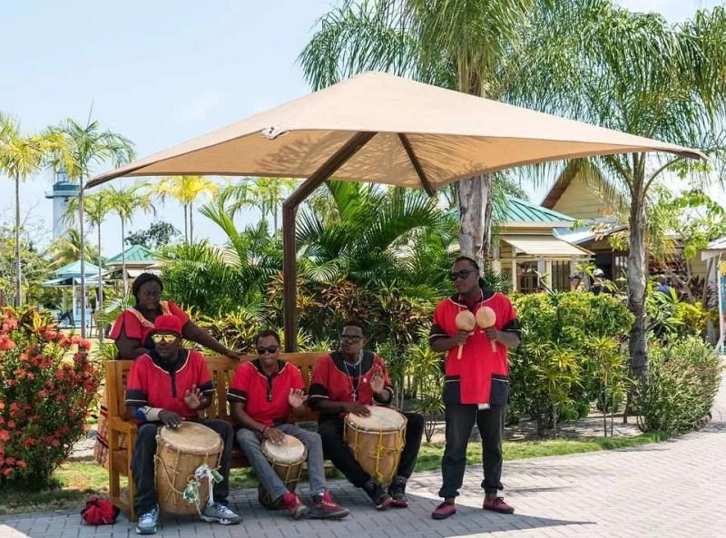 Performers Singing Drums