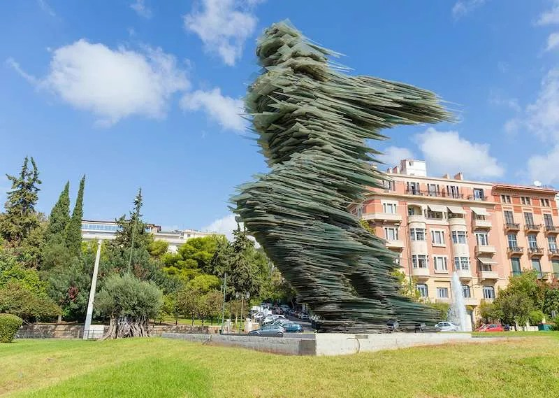 Dromeas sculpture the runner Athens Greece