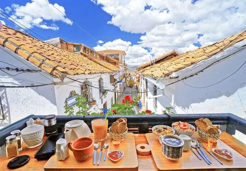 Breakfast views Cusco