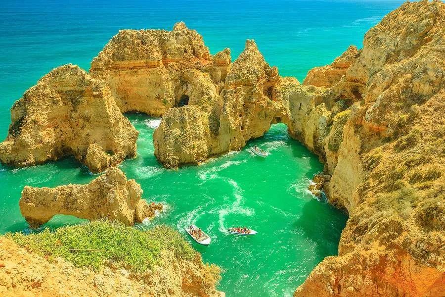 Ponta da piedade Algarve Lagos Portugal