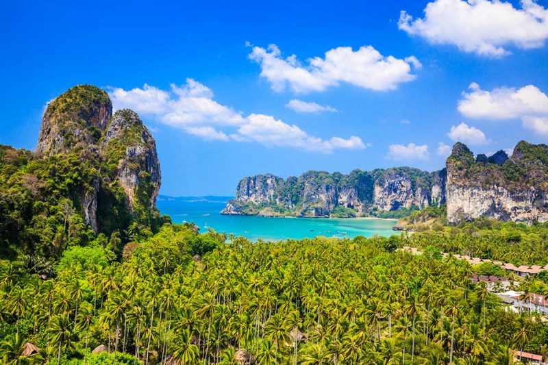 Lookout point above Railay Beach in Krabi Thailand