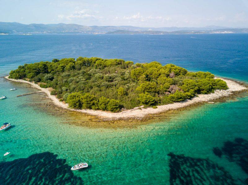 Beautiful secluded island off Hvar Croatia