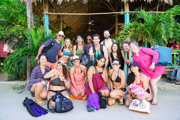 Group shot in Belize