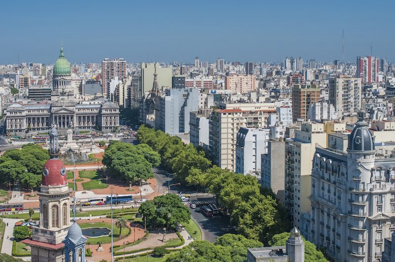 Buenos Aires downtown view Argentina