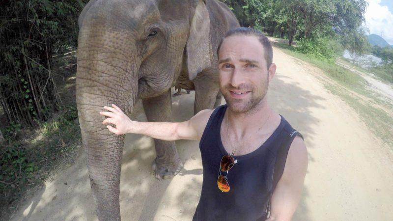 Elephant selfie in Thailand