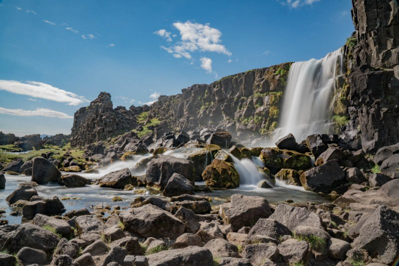 Oxararfoss waterfall in Thingvellir