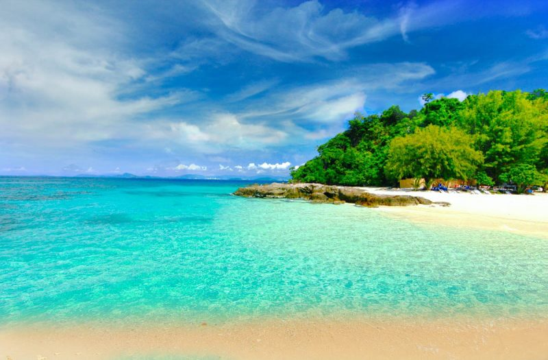 Paradise beach on Koh Maiton Island Phuket Thailand