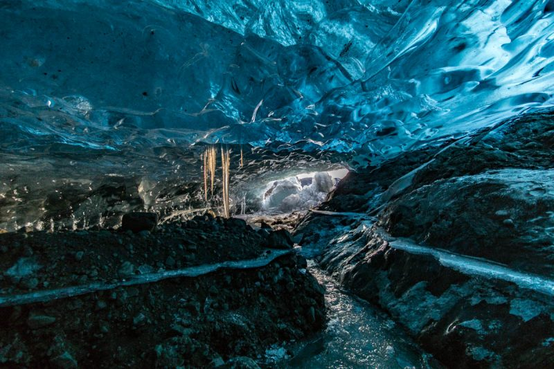 Secret ice cave in Iceland