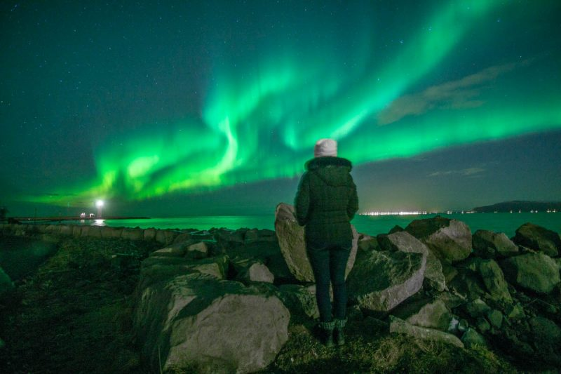 Standing in awe of the Northern Lights