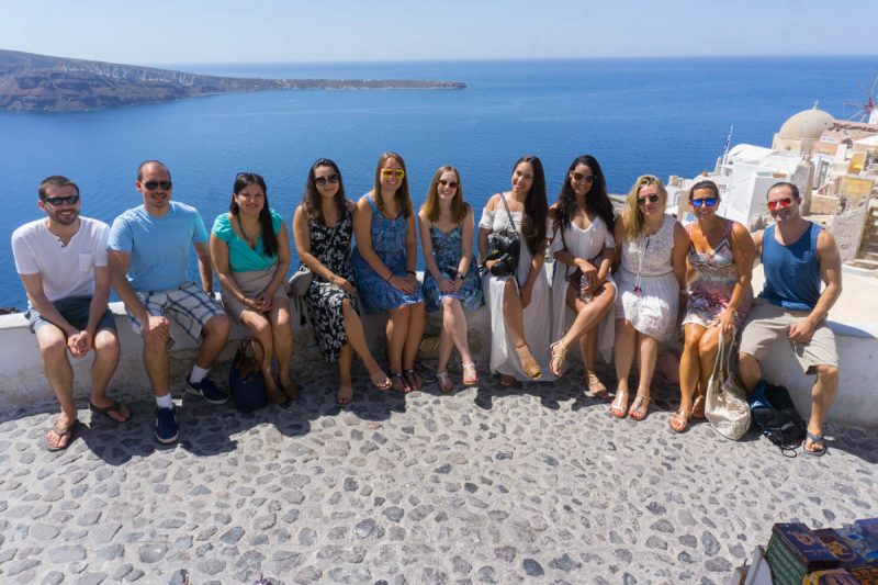 Hanging out in Oia Greece