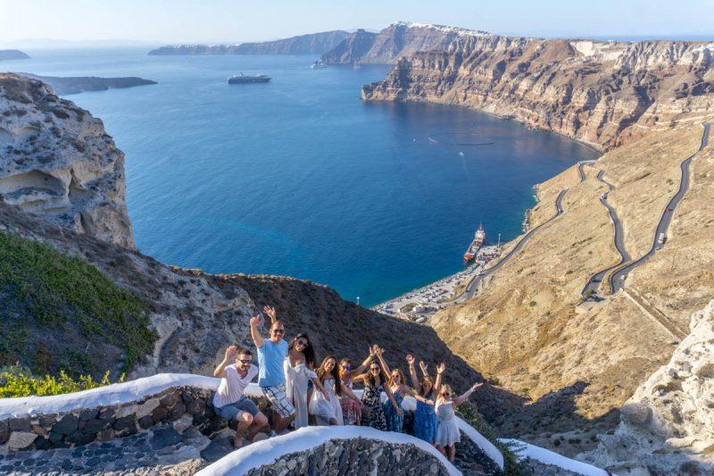 Hanging out in Imerovigli on Santorini Greece