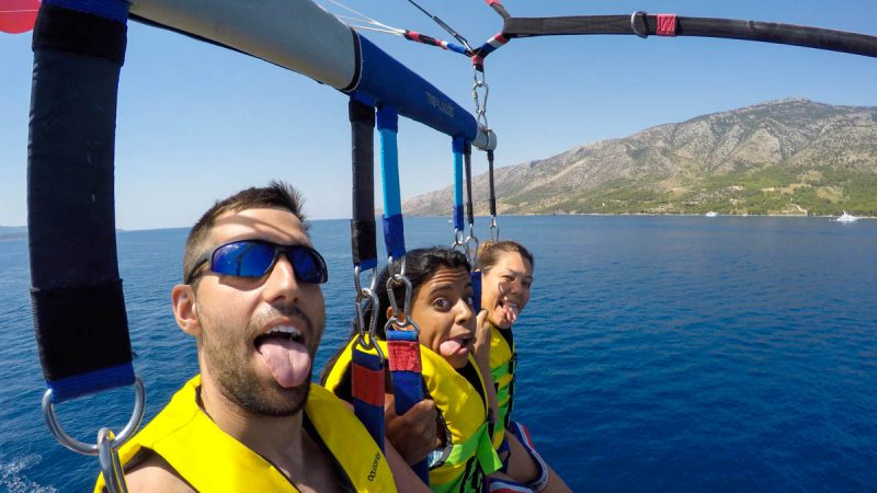 Parasailing silliness