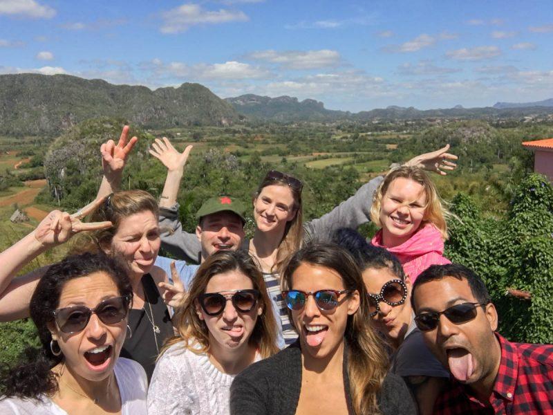Silly group selfie in Vinales
