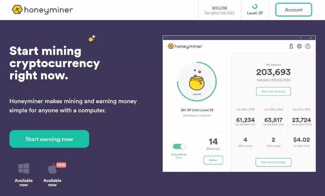 如何用比特幣挖礦軟件來賺取加密貨幣 - Honeyminer