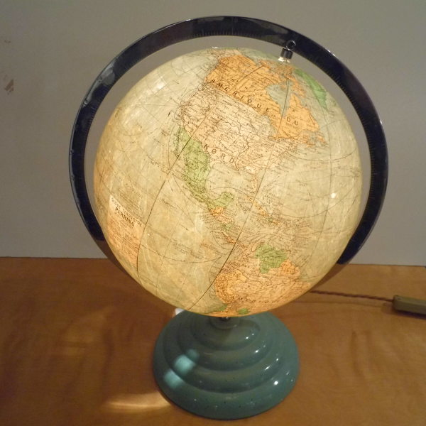 Art Deco Illuminated Globe