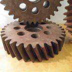 Vintage Industrial Wooden Cogs