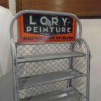 vintage industrial rack