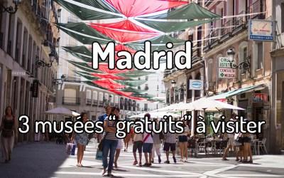 3 musées gratuits à Madrid