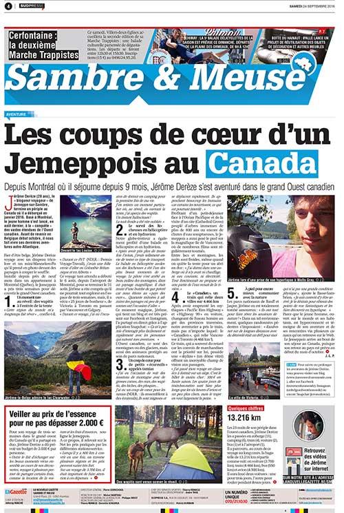 Septembre 2016 - La Nouvelle Gazette