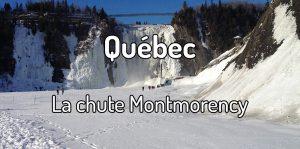 La chute Montmorency au Québec