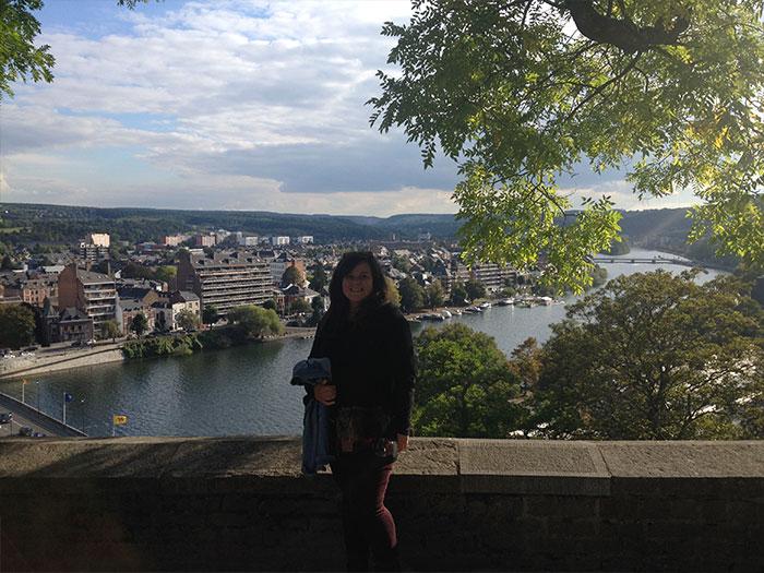 Karine (en PVT Belgique) à Namur