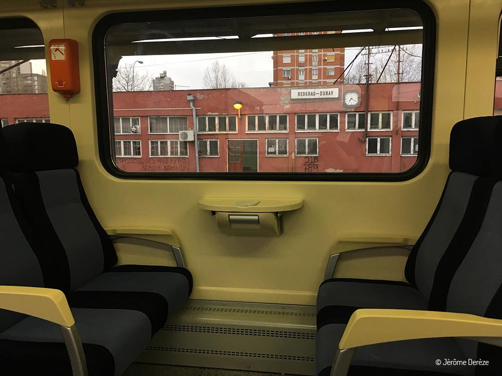 Train de Timisoara à Belgrade - Gare de Beograd Dunav