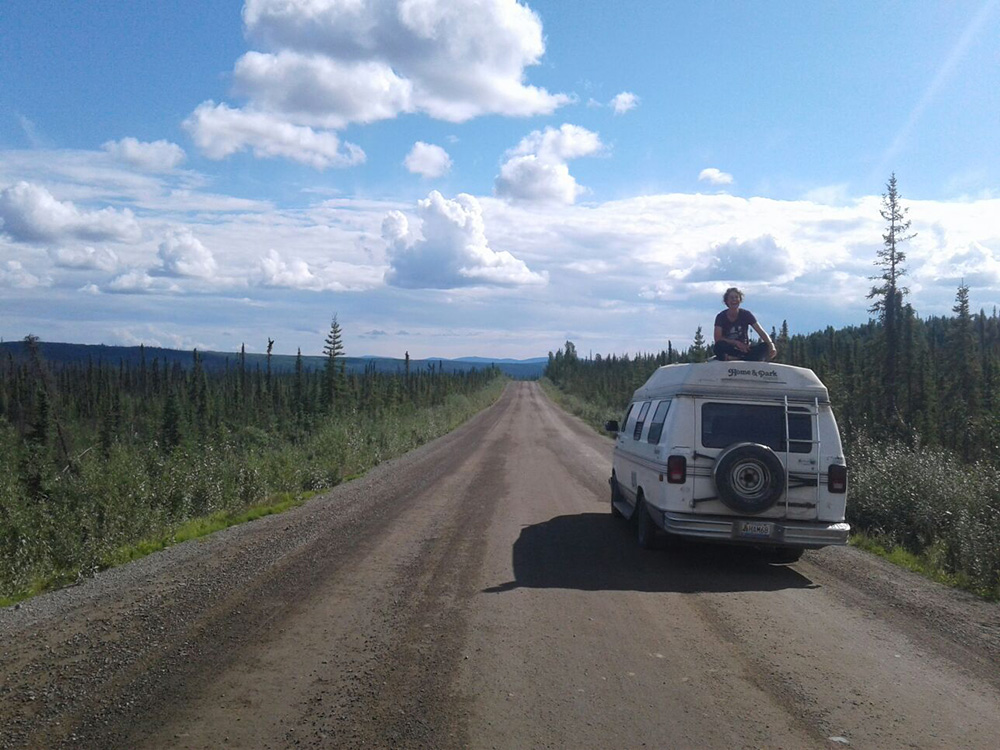 Roadtrip en van sur un bout de la Dempster Highway