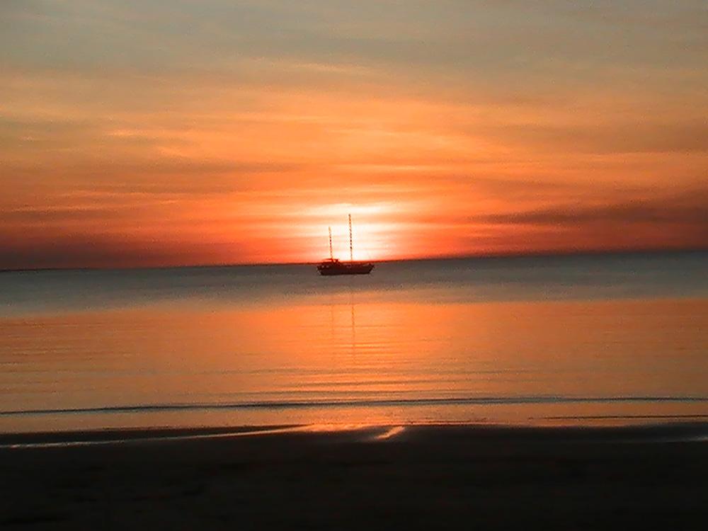 Faire un PVT Australie - WHV Australie - Coucher de soleil sur la côte ouest