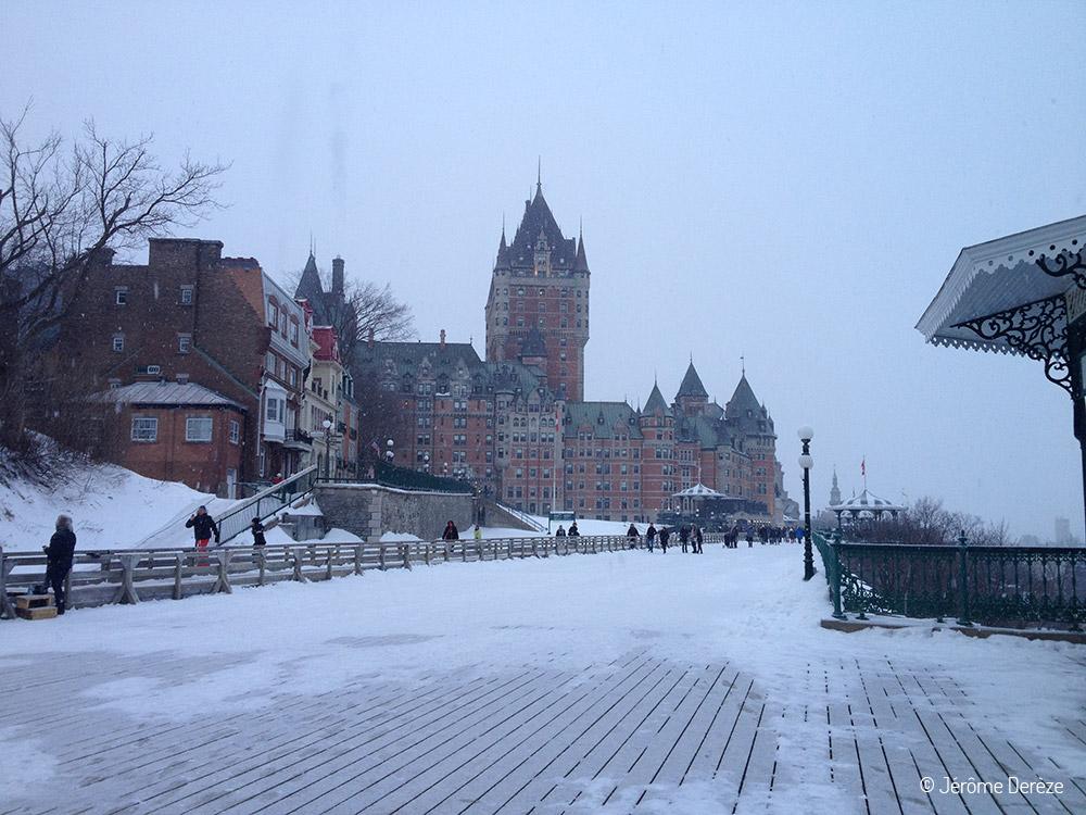 Visiter Québec - La terrasse Dufferin et château Frontenac