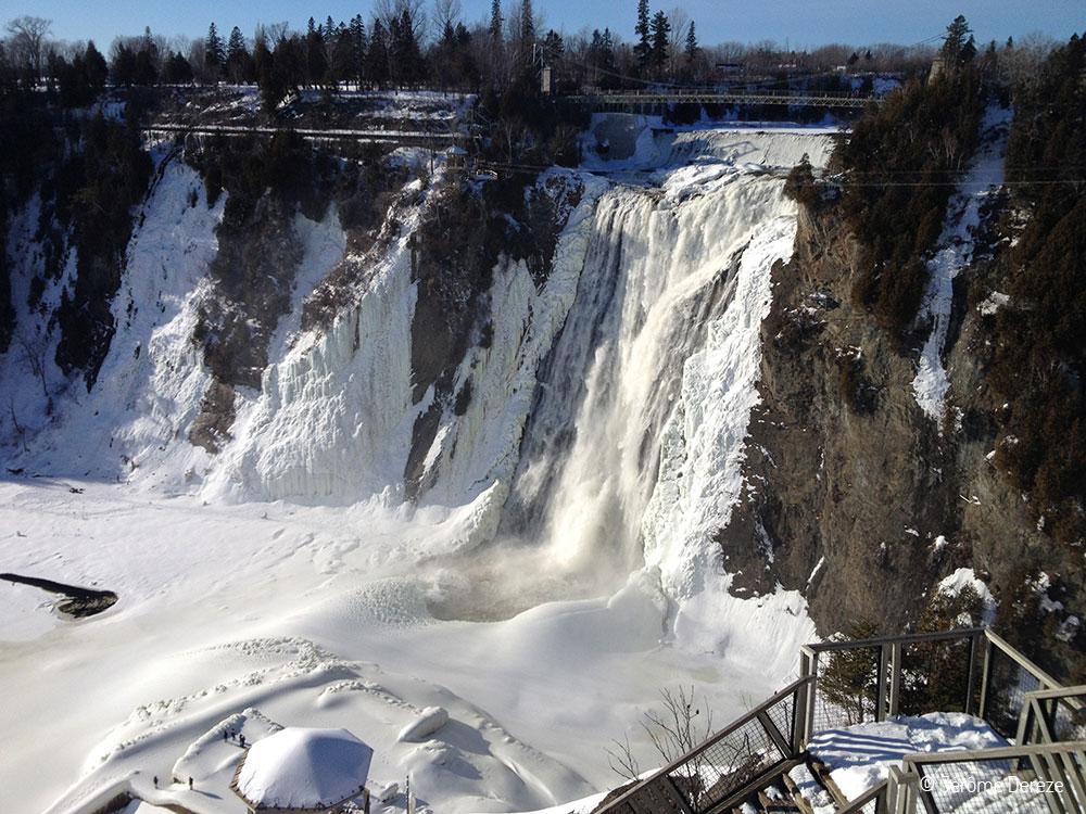 Visiter Québec - la chute montmorency