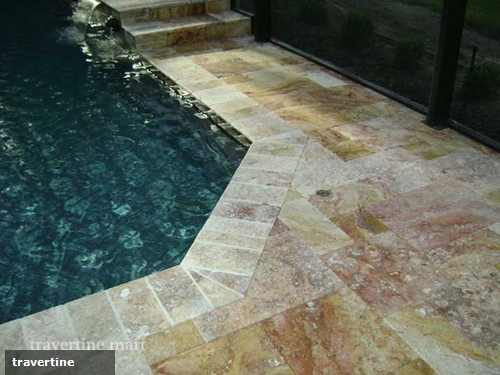 Travertine pool coping is perfect for hotel pools Travertine
