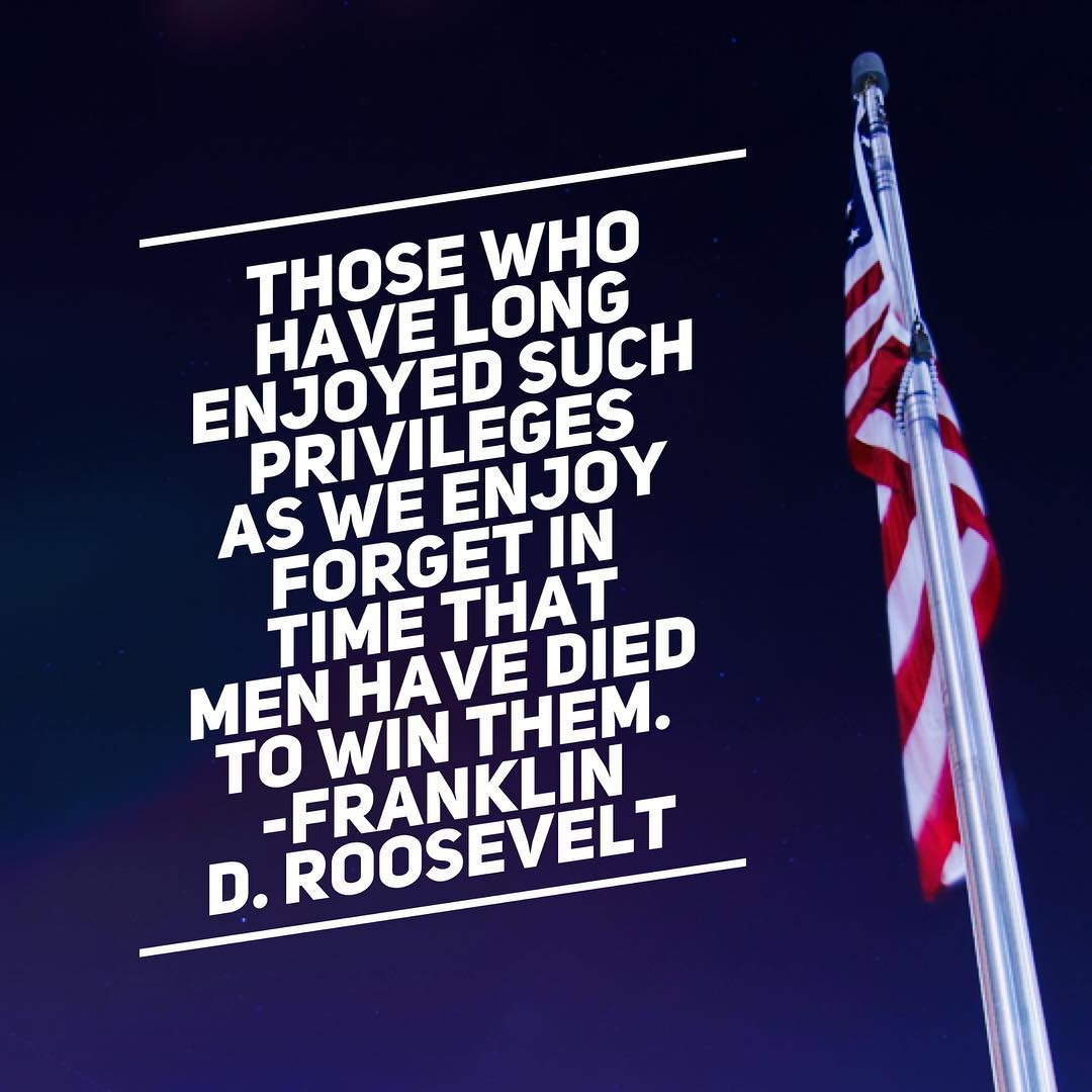 Men have died to win these freedoms. Remember.