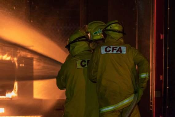 Members of Toomuc CFA conducting live fire training.