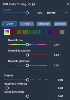 HSL Colour Tuning