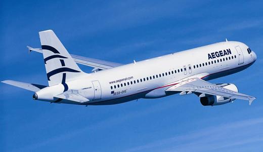 Aegean Airlines van Schiphol naar Athene